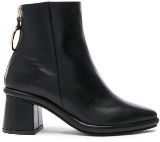 Reike Nen Leather Ring Slim Boots in Black | FWRD