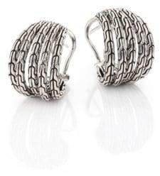 John Hardy Classic Chain Small Sterling Silver Hoop Earrings