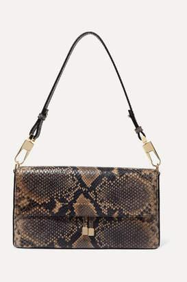Chylak - Flap Snake-effect Leather Shoulder Bag - Snake print