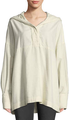 Elizabeth and James Cortlandt Hooded Long-Sleeve Top