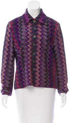 Missoni Metallic-Accented Patterned Cardigan