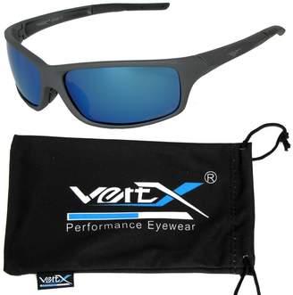 VertX Men's Polarized Sunglasses Sport Cycling Running Outdoor - Frame - Blue Lens