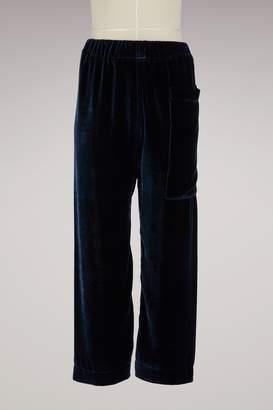 Sofie D'hoore Silk velvet trousers