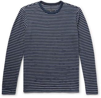 Rag & Bone Striped Cotton-Blend T-Shirt