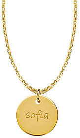 Posh Mommy 18K Gold-Plated Large Disc Pendant with Chain