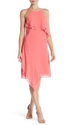 Nanette Lepore NANETTE Asymmetrical Layered Ruffle Dress