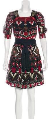 Gucci Embellished Crepe Dress