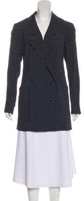 Reformation Polka Dot Double-Breasted Blazer