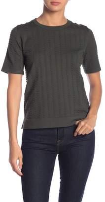 Catherine Malandrino Textured Short Sleeve Sweater Top