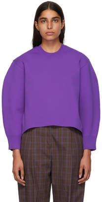 Tibi Purple Sculpted Sleeve Sweater