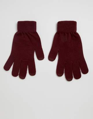 Asos DESIGN touch screen gloves in recycled polyester