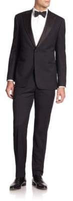 Giorgio Armani Peak-Lapel Virgin Wool Tuxedo