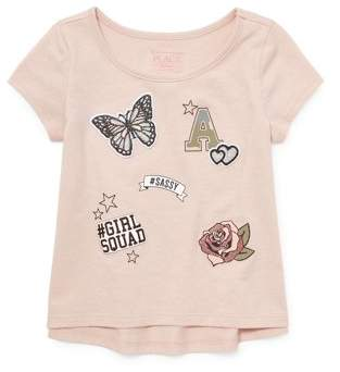 Children's Place The Short Sleeve Patches T-Shirt (Toddler Girls)