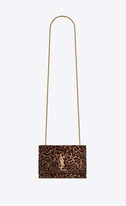 Saint Laurent Kate Small In Leopard Printed Velvet