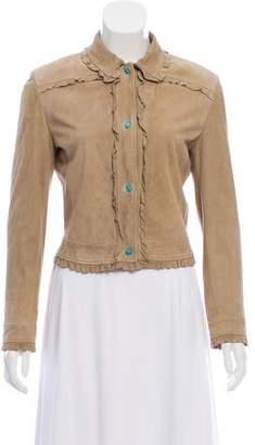 Valentino Suede Button-Up Jacket