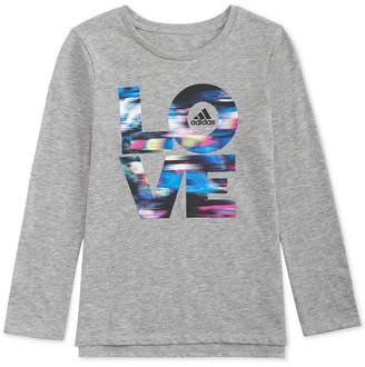 adidas Little Girls Long-Sleeve Love T-Shirt