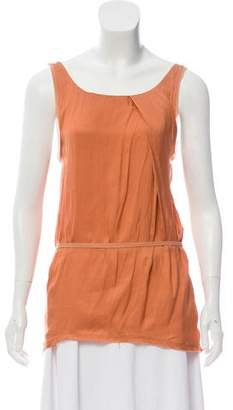 Helmut Lang Sleeveless High-Low Blouse