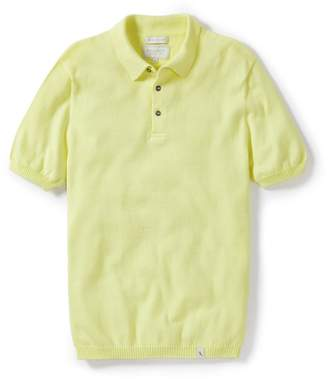 Peregrine Cruise Knitted Polo Shirt Frozen Yellow