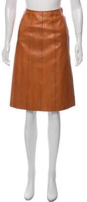 Loewe Snakeskin Pencil Skirt