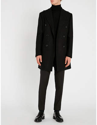 Corneliani CC Collection peak-lapel wool-blend coat