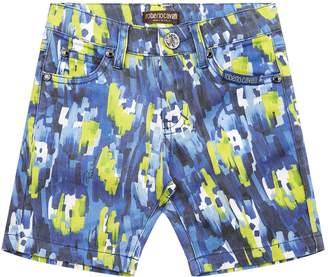 Roberto Cavalli Graffiti Splash Bermuda Shorts
