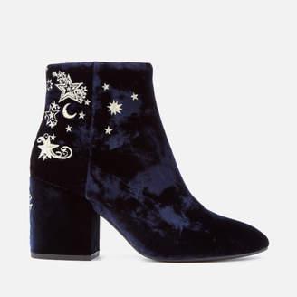 Ash Women's Elixir Velvet Heeled Ankle Boots - Midnight