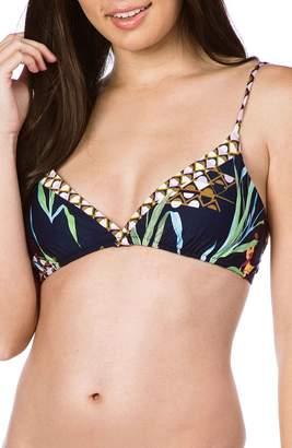 Trina Turk Fiji Floral Mix Fixed Bikini Top