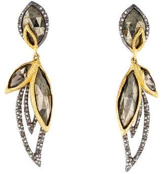 Alexis Bittar Elements Marquis Pyrite Dangling Clip-On Earrings