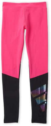 adidas Girls 7-16) Color Block Rainbow Logo Tights