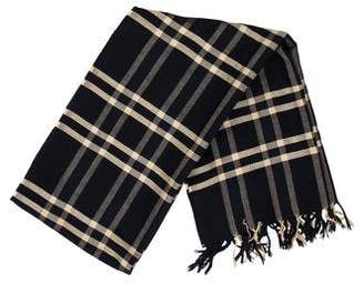 Barneys New York Barney's New York Fringe-Trimmed Plaid Scarf