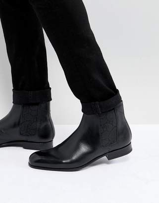 Ted Baker Kayto leather chelsea boots in black