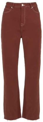 Mint Velvet Nevada Rust Raw Hem Jeans