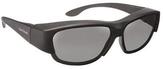 SOLAR SHIELD Solar Shield Unisex Gunmetal Polarized SolarShield Sunglasses SB06