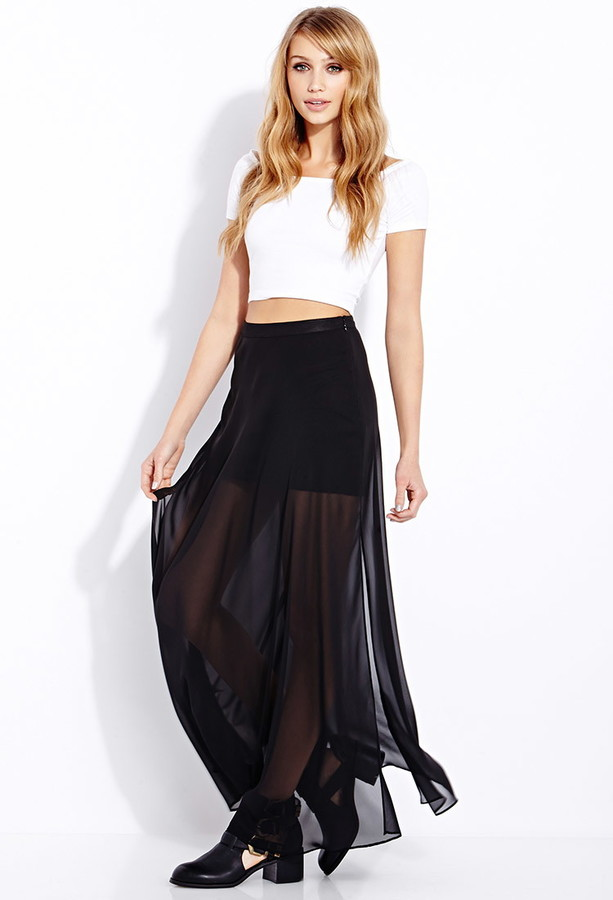 Forever 21 Must-Have M-Slit Maxi Skirt