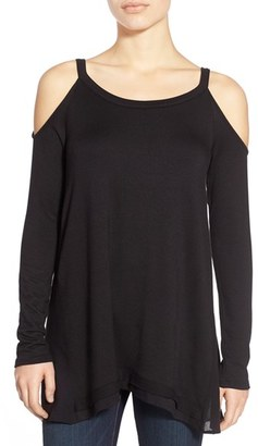 Ella Moss Cold Shoulder Long Sleeve Top $158 thestylecure.com