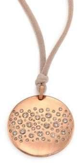LJ Cross Constellation Champagne Diamond, Silk& 14K Rose Gold Pendant Necklace