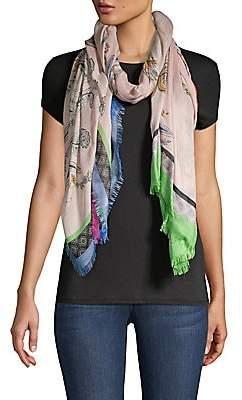 Etro Women's Blush Floral Paisley Cashmere & Silk Raji Scarf