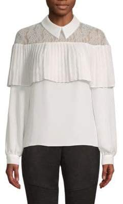 Laundry by Shelli Segal Lace Collared Top