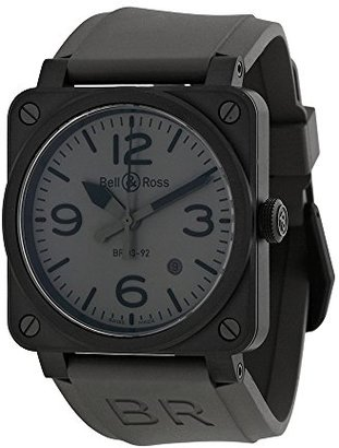 Bell & Ross Bell and Ross Commandoグレーダイヤルグレーゴムメンズ時計r0392-commandoce