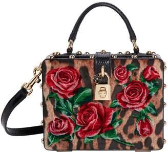 e2707e05 Dolce & Gabbana Leopard-Print Floral Velvet Box Bag