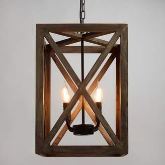 Cost Plus World Market Wood & Iron Valencia Chandelier