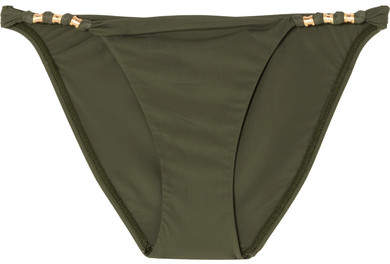 Vix Military Paula Embellished Bikini Briefs - Army green