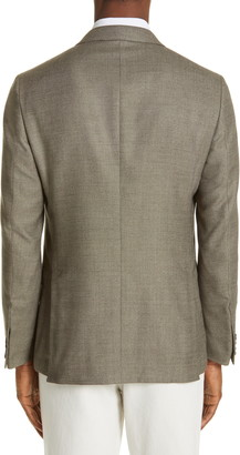 Ermenegildo Zegna Milano Trim Fit Solid Wool Blend Sport Coat