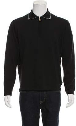 Versace V2 Wool Polo Sweater
