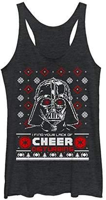 Fifth Sun Star Wars Women's Ugly Christmas Lack of Cheer Snowflake Racerback Tank Top