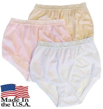Carole Women's Nylon Lace Trim Panties Size (3-Pack)