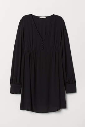 H&M MAMA Creped Tunic - Black