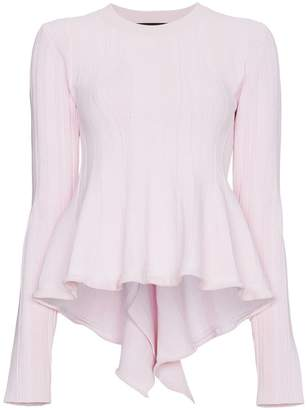 Proenza Schouler Long Sleeve Sculpted Knit Top