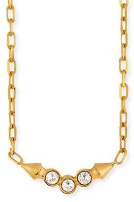 MIO Cyn Crystal Bezel Pendant Necklace