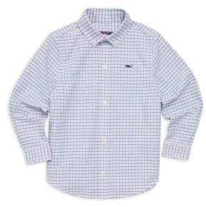 Vineyard Vines Little Boy's& Boy's Belle Haven Plaid Oxford Shirt